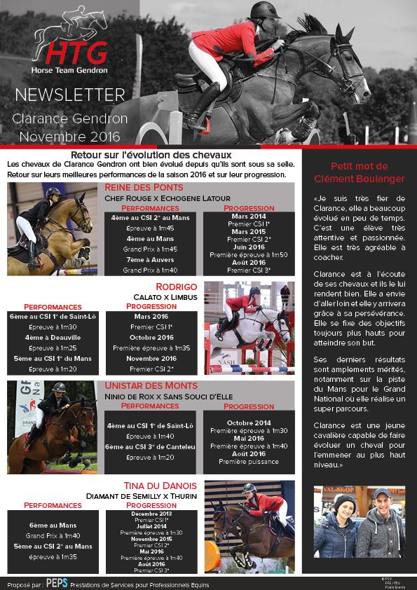 newsletter clarance gendron novembre 2016