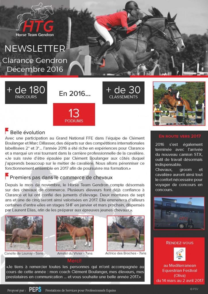 newsletter-decembre-2016 - Clarance Gendron