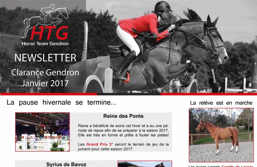 Message Newsletter - Janvier 2017 - Clarance Gendron