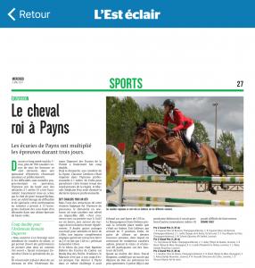 Article Est Eclair 2017