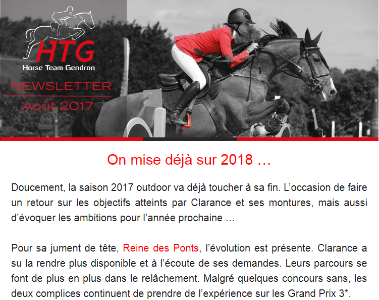 Newsletter Aout 2017