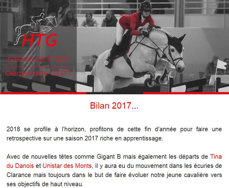 Newsletter Décembre 2017