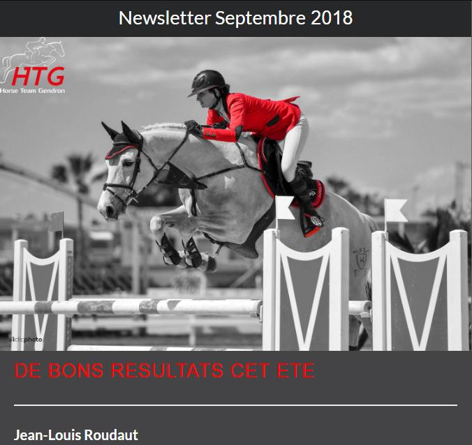 HTG Newsletter Septembre 2018