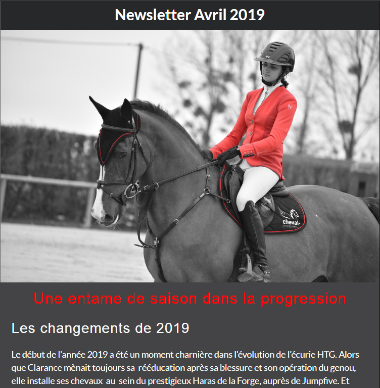 Article Newsletter Avril 2019